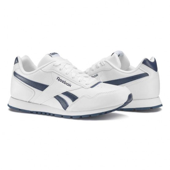 Reebok Royal Glide Shoes Kids White/Collegiate Navy (358TZISA)