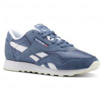 Reebok Classic Nylon Shoes Womens Mutedberries-Blue Slate/White/Chalk (360MTRBJ)