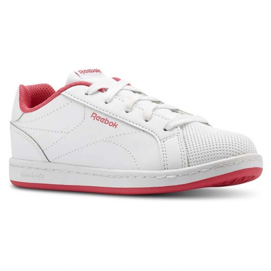 Reebok Royal Complete Shoes Girls White/Twisted Pink (360RBSCQ)