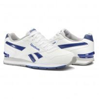 Chaussure Reebok Royal Glide Homme Blanche/Bleu Royal/Grise Foncé/Grise (370LQBGZ)