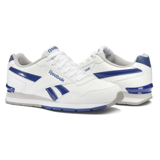 Reebok Royal Glide Shoes Mens White/Team Dark Royal/Carbon/Steel (370LQBGZ)