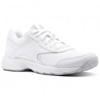 Reebok Walk Walking Shoes Womens White/Steel (372PWUFG)