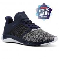 Reebok Fast Flexweave Running Shoes Womens Collegiate Navy/Ultima Purple/White (374SIDVN)