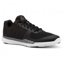 Reebok Sprint TR Training Shoes Womens Black/Shark/White (377YFROP)