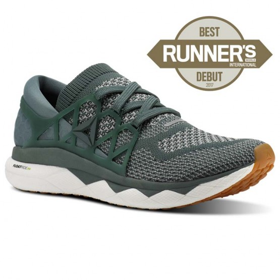 Reebok Floatride Run Running Shoes Mens Chalk Green/Tin Grey/White/Gum (378XUEWK)