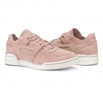 Reebok Workout Lo Shoes Womens Shell Pink/Sandy Rose/Chalk (379KBGUH)
