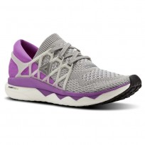 Reebok Custom Floatride Run Running Shoes Womens Light Grey Heather/Medium Grey Heather/Vicious Violet (379MCEKS)