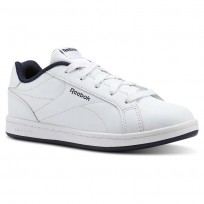 Reebok Royal Complete Shoes Kids White/Collegiate Navy- No Texture Toe (388QOVBT)