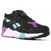 Reebok Aztrek Shoes Mens We-Black/Solid Teal/Abergine/White/Skull Grey (389FKWGN)