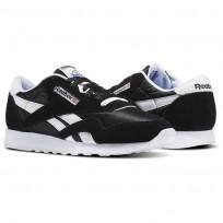 Reebok Classic Nylon Shoes Mens Black/White (392FYHIK)
