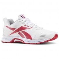Reebok Triplehall 6.0 Running Shoes Womens White/Pink Craze/Skull Grey (393JSEBK)