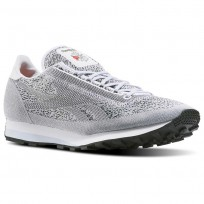 Reebok Aztec Shoes Mens White/Cloud Grey/Black/Pewter (395TYXUH)