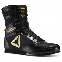 Reebok Boxing Tactical Shoes Mens Black/Gold (396LGONM)