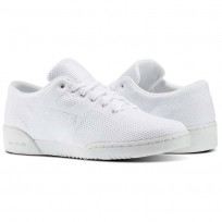Reebok Workout Clean Shoes Mens White/Meteor Grey (404MIFCN)