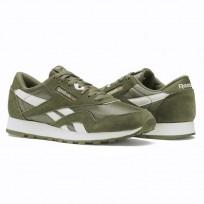 Reebok Classic Nylon Shoes Kids Hunter Green/White (407QJXMP)