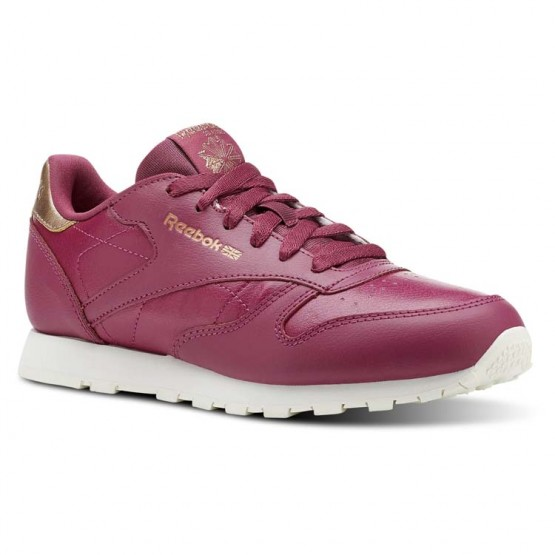 Reebok Classic Leather Shoes Girls Rm-Twisted Berry/Chalk (408CVYBS)