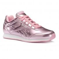 Reebok Royal Classic Jogger Shoes For Girls Metallic/Light Pink/White (409FAPVE)