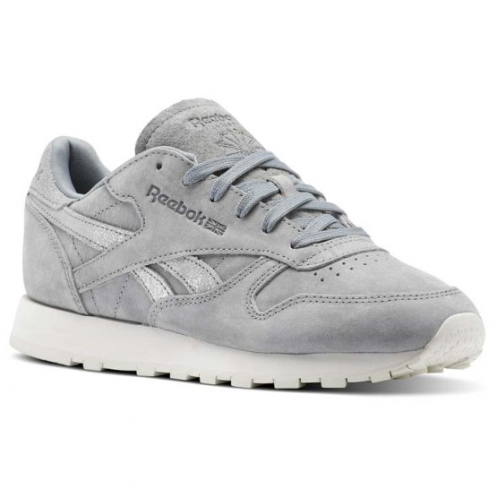 Chaussure Reebok Classic Leather Femme Grise/Argent (409LVOHZ)