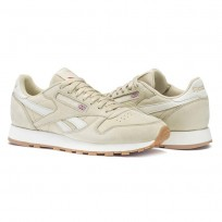 Chaussure Reebok Classic Leather Homme Beige/Rouge (409WYEUC)