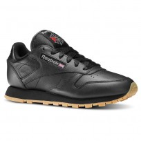 Chaussure Reebok Classic Leather Femme Noir (410RNZXY)