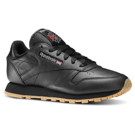 Chaussure Reebok Classic Leather Femme Noir (410RNZXY)