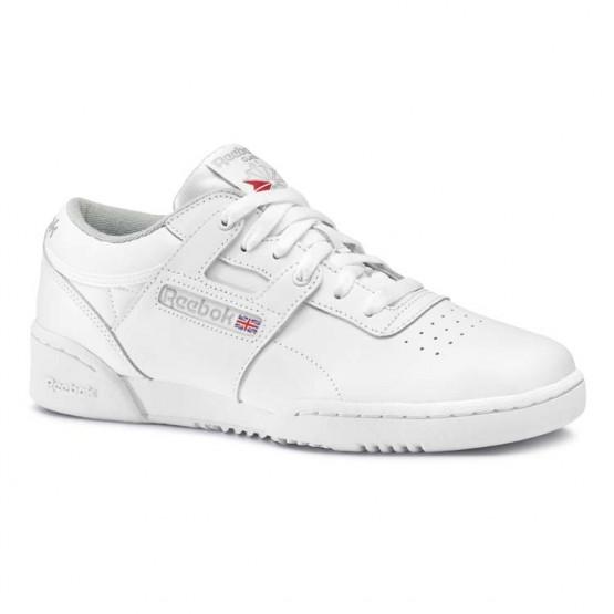 Reebok Workout Shoes Mens Intense White/Grey (412KIBAY)