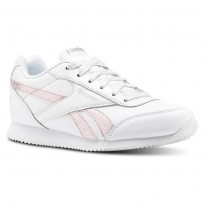 Chaussure Reebok Royal Classic Jogger Fille Blanche/Rose/Argent (414KZNLM)