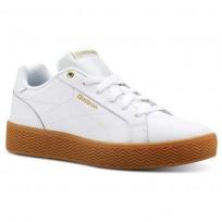 Reebok Royal Shoes Womens White/Gold Metallic/Gum (415PUWXF)