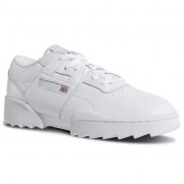 Reebok Workout Ripple OG Shoes Mens Foundation-White/Steel/Excellent Red (425UYEFG)