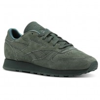 Reebok Classic Leather Shoes Womens Ref Exm-Chalk Green (427AXGMC)