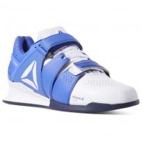 reebok legacy lifter παπουτσια ανδρικα ασπρα/σκουρο μπλε (429elajd)