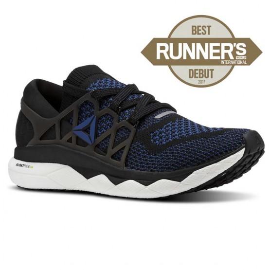 Reebok Floatride Run Running Shoes Mens Black/Bunker Blue/White (429GKLUS)