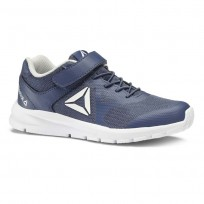 Reebok Rush Runner Running Shoes Kids Bunker Blue/Steel/White (432FSNAG)