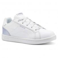 Reebok Royal Complete Shoes Girls Pastel-White/Frozen Lilac/Silver (433UCZJN)