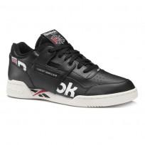 Reebok Workout Plus Shoes For Men Black/White/Red (436FBUAG)