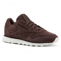 Reebok Classic Leather Shoes Womens Enh-Lush Earth/Chalk (440UKLHX)