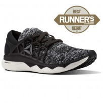 Reebok Floatride Run Running Shoes Mens Black/Coal/White (441QBYPI)