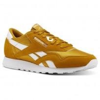 Reebok Classic Nylon Shoes Mens Sf- Wild Khaki/White (443SWELO)