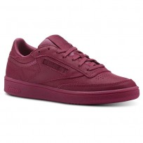 Reebok Club C 85 Shoes Womens Face-Twisted Berry/White (448DCXIM)