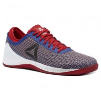 Reebok CrossFit Nano Shoes Mens Excellent Red/Team Dark Royal/White (452LNDSR)