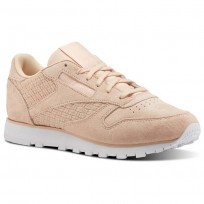 Chaussure Reebok Classic Leather Femme Rose/Blanche (454MEFPI)