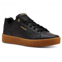 Reebok Royal Shoes Womens Black/Gold Metallic/Gum (456RFISA)