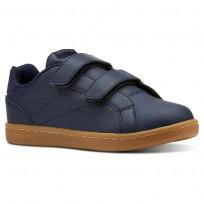 Reebok Royal Comp Shoes Boys Outdoor-Collegiate Navy/Graphite/Dark Gum (457QRDZS)