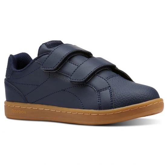 Chaussure Reebok Royal Comp Garcon Bleu Marine/Grise Foncé (457QRDZS)