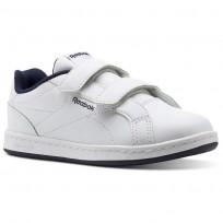 Chaussure Reebok Royal Comp Enfant Blanche/Bleu Marine (462MKPCS)