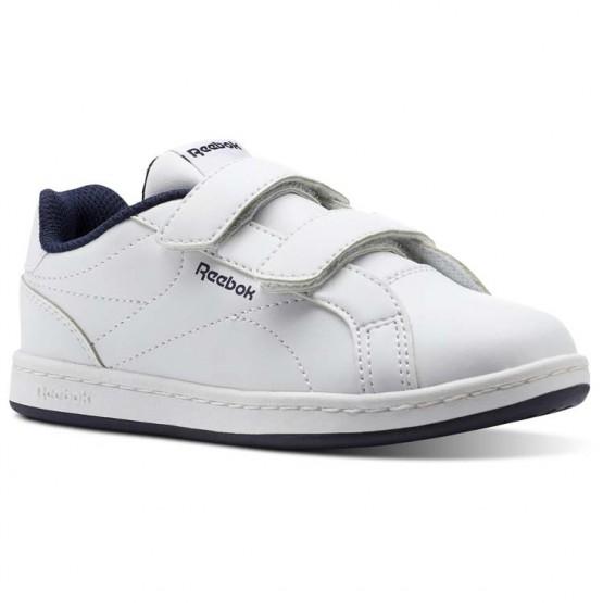 Reebok Royal Comp Shoes Kids White/Collegiate Navy (462MKPCS)