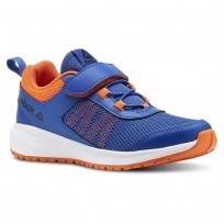 Reebok Road Supreme Running Shoes Boys Coll Royal/Bright Lava/Wht/Black (463EDAPX)