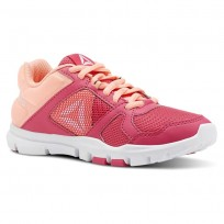 Reebok YourFlex Train 10 Training Shoes For Girls Pink/Pink/White (464CFKYA)