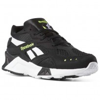 Reebok Aztrek Shoes Mens Bw-Black/White/Solar Yellow (464MHRCA)