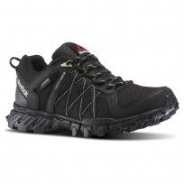 Reebok Trailgrip Walking Shoes Womens Black/Aloe Green (465HMJNU)